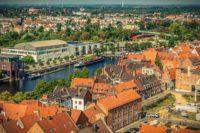 Lübeck Luftaufnahme Schiff