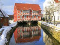 Haus im Winter in Wismar